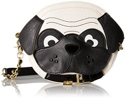 Betsy Johnson jonson leather purse synthetic cute face