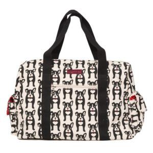 travel bag with dog pattern frenchie boston