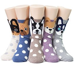 Cutest dog socks - 5 pairs high quality