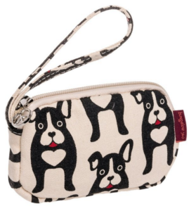Boston Terrier wallet women wrist purse