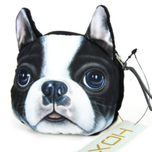 boston terrier wallet made of cloth