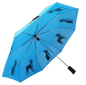 umbrella decorated with dogs - Boston Terrier