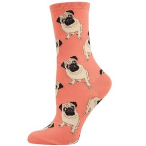 orange pug socks