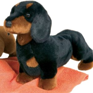 black and brown color dachshund toy