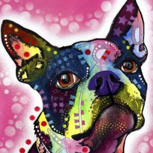 cute dog wall art