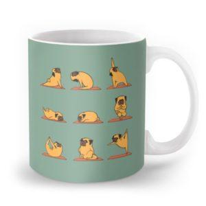 dog yoga poses coffee mug