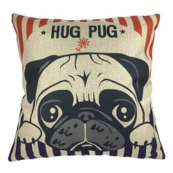 pug hugs pillow