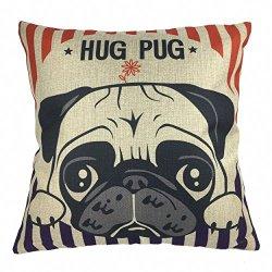 pug hugs pillow