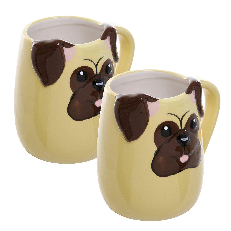 pug on a mug tea cup
