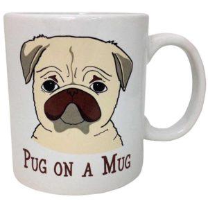 sad frowning dog mug
