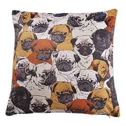pug pillow case faces