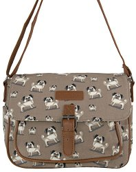 purse pug messenger cute