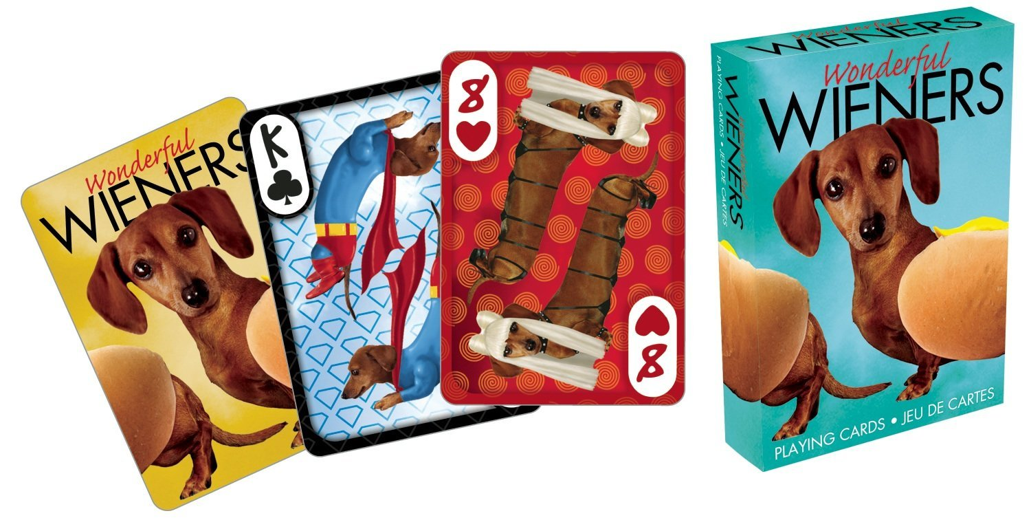Funny Sausage Dog Playing Cards Wonderful Weiners Good