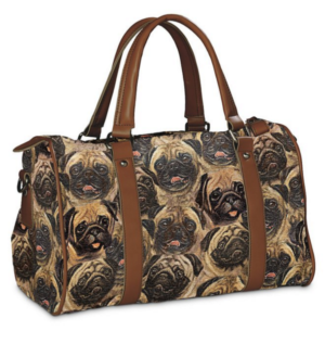 pug faces large handbag