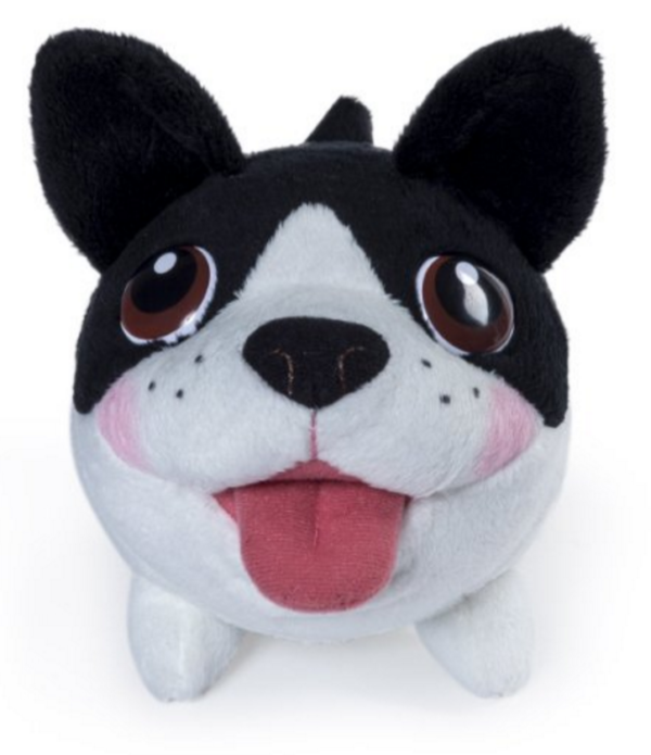 Plushie black and white dog