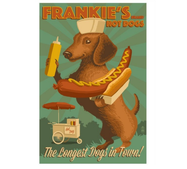 weiner dog dachshund art