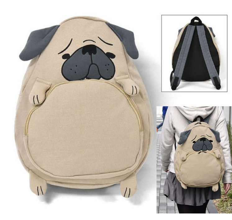 cute pug-shaped backpack from japan