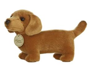 cute stuffed dachshund toy