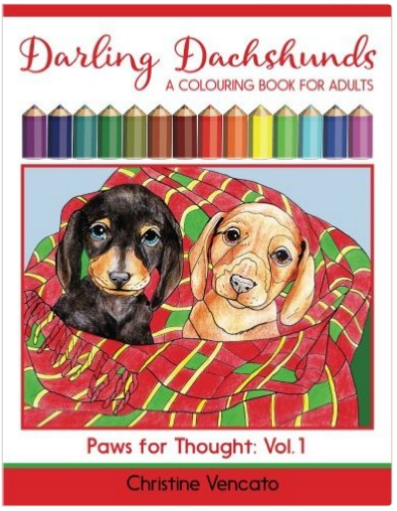 doxie coloring book for adults