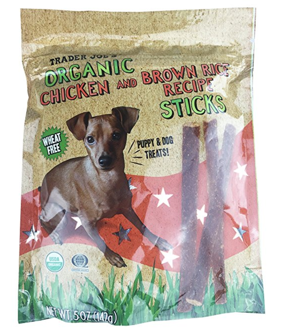 Organic dog treats from Trader Joe's