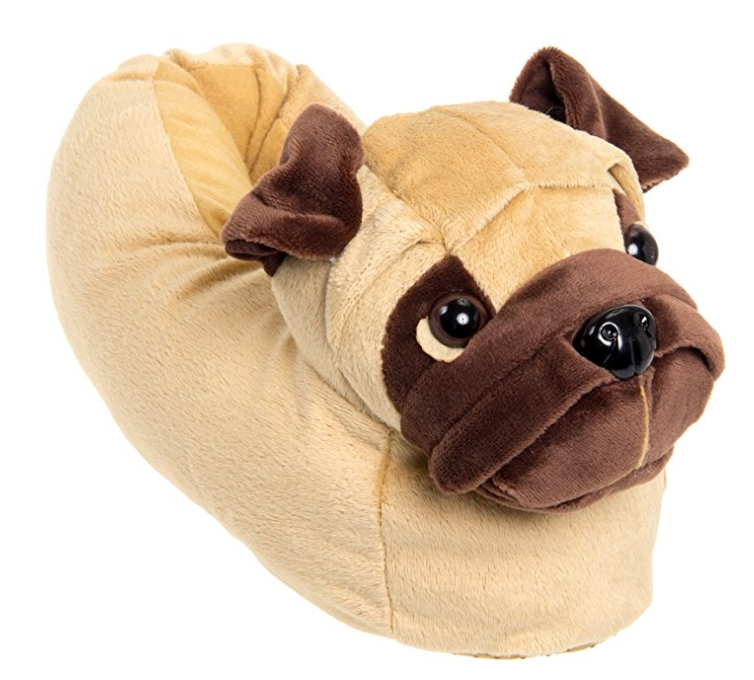 pug dog slip on shoes