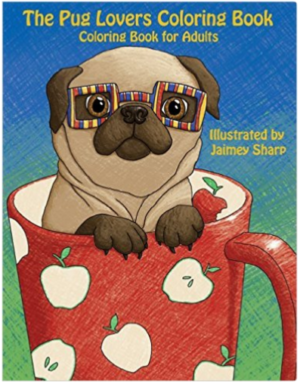 dog coloring book for adults - Pugs