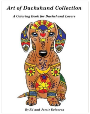 dog coloring book (Dachshund)