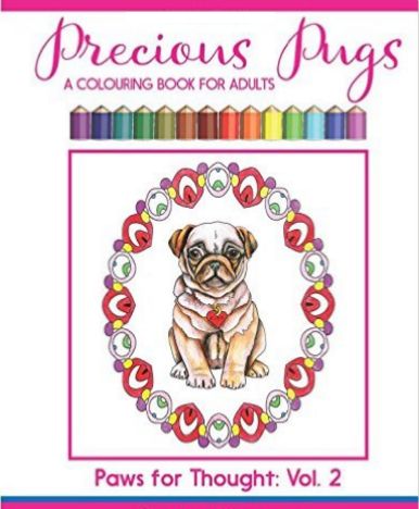 precious pug coloring book for adults and kids